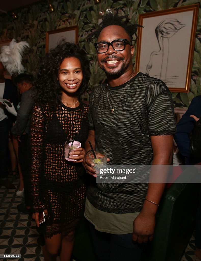 Kristen Luiz and Onasis Odelmo attend WE tv's LOVE BLOWS Premiere Event at Flamingo Rum Club on August 16, 2017 in Chicago, Illinois.
