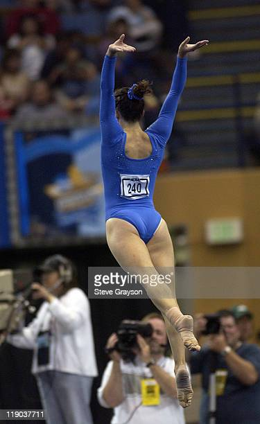 Kristen Maloney of UCLA in action during the 2004 NCAA Championship Team Finals at Pauley Pavilion in Westwood California April 16