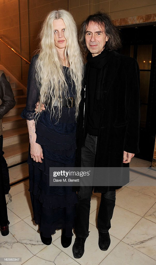 Kristen McMenamy (L) and Ivor Braka attend the AnOther Magazine and Dazed & Confused party with Belvedere Vodka at the Cafe Royal hotel on February 18, 2013 in London, England.