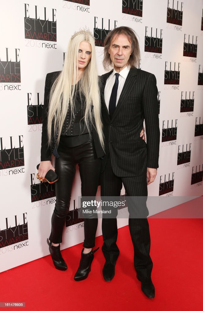 Kristen McMenamy and Ivor Braka attends the Elle Style Awards 2013 at The Savoy Hotel on February 11, 2013 in London, England.