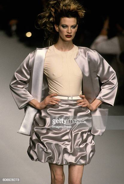 Kristen McMenamy at the Karl Lagerfeld Spring 1996 show circa 1995 in Paris France