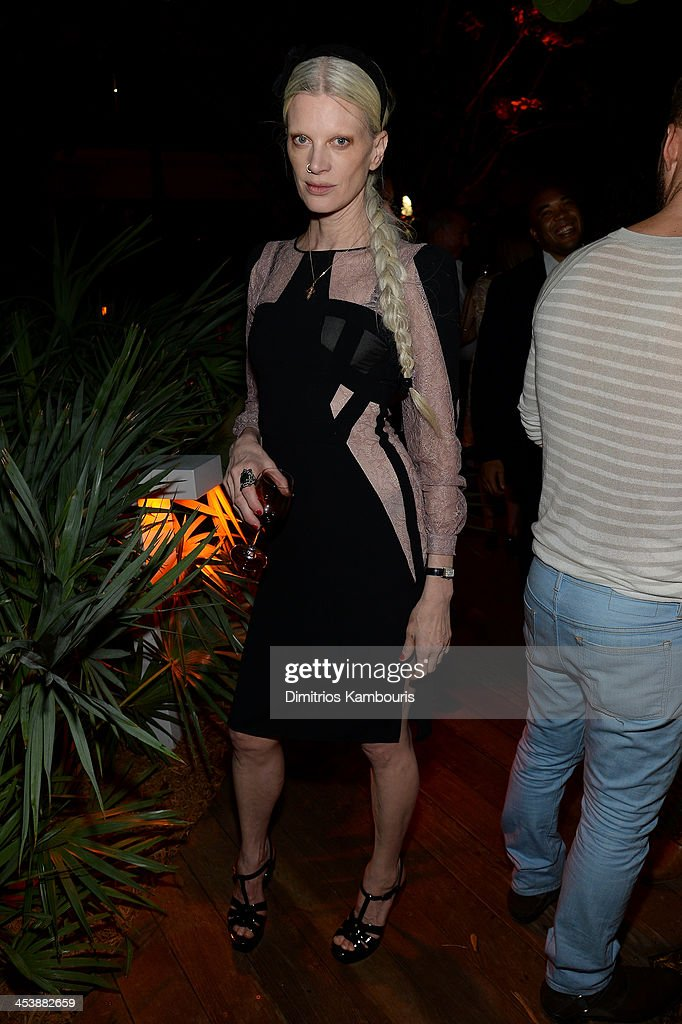 Kristen McMenamy attends the Aby Rosen & Samantha Boardman Dinner at The Dutch on December 5, 2013 in Miami Beach, Florida.