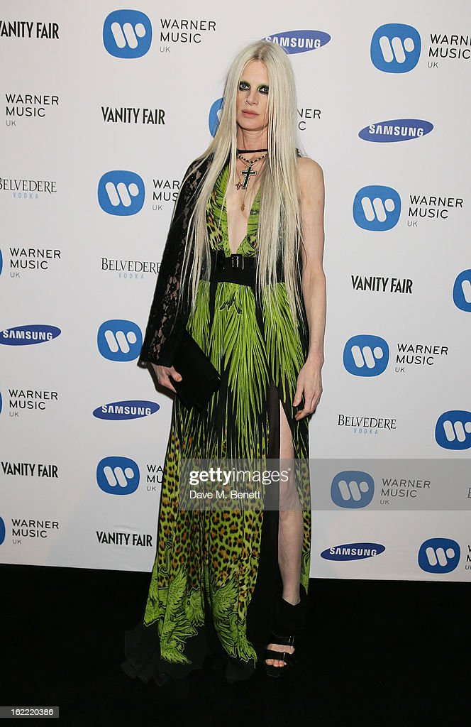 Kristen McMenamy attends the Warner Music Group Post BRIT Party In Association With Samsung at The Savoy Hotel on February 20, 2013 in London, England.