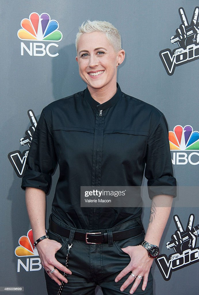 <a gi-track='captionPersonalityLinkClicked' href=/galleries/search?phrase=Kristen+Merlin&family=editorial&specificpeople=12502728 ng-click='$event.stopPropagation()'>Kristen Merlin</a> arrives at NBC's 'The Voice' Season 6 Top 12 Red Carpet Event at Universal CityWalk on April 15, 2014 in Universal City, California.