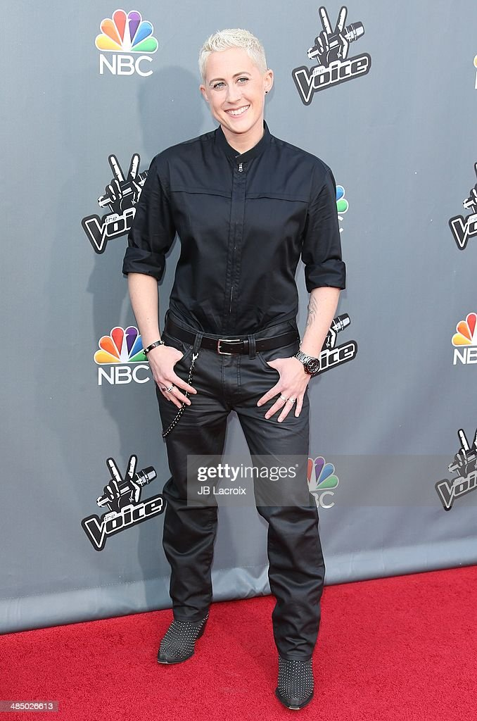 <a gi-track='captionPersonalityLinkClicked' href=/galleries/search?phrase=Kristen+Merlin&family=editorial&specificpeople=12502728 ng-click='$event.stopPropagation()'>Kristen Merlin</a> attends 'The Voice' Season 6 Top 12 Red Carpet Event on April 15, 2014 in Universal City, California.