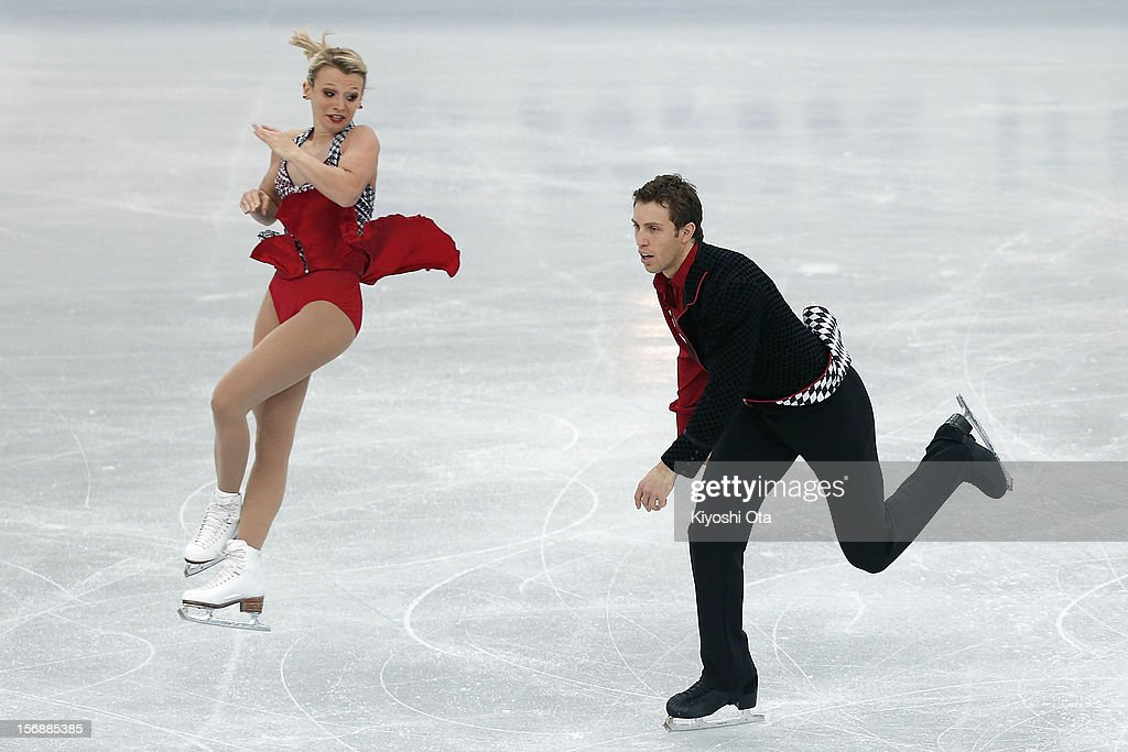 Kristen Moore-Towers and Dylan Moscovitch of Canada compete in the Pairs Short Program during day two of the ISU Grand Prix of Figure Skating NHK Trophy at Sekisui Heim Super Arena on November 24, 2012 in Rifu, Japan.