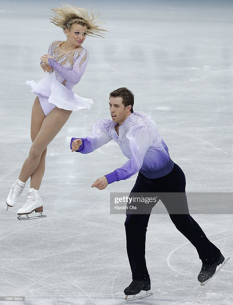 Kristen Moore-Towers and Dylan Moscovitch of Canada compete in the Pairs Free Skating during day three of the ISU Grand Prix of Figure Skating NHK Trophy at Sekisui Heim Super Arena on November 25, 2012 in Rifu, Japan.