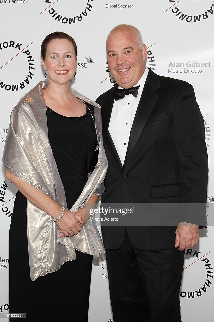 Kristen Neuman and Andrew Neuman attends the New York Philharmonic 172nd Season Opening Night Gala at Avery Fisher Hall, Lincoln Center on September 25, 2013 in New York City.