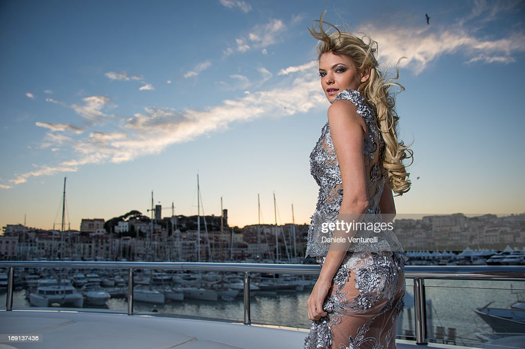 Kristen Nicole attends the Cannes Yacht Photo Shoot Aboard The Harle at The 66th Annual Cannes Film Festival on May 20, 2013 in Cannes, France.