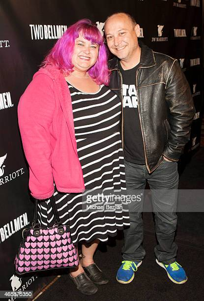 Kristen 'Pinky' Coogan and Keith Coogan attend JW Marriot at LA Live on March 10 2015 in Los Angeles California