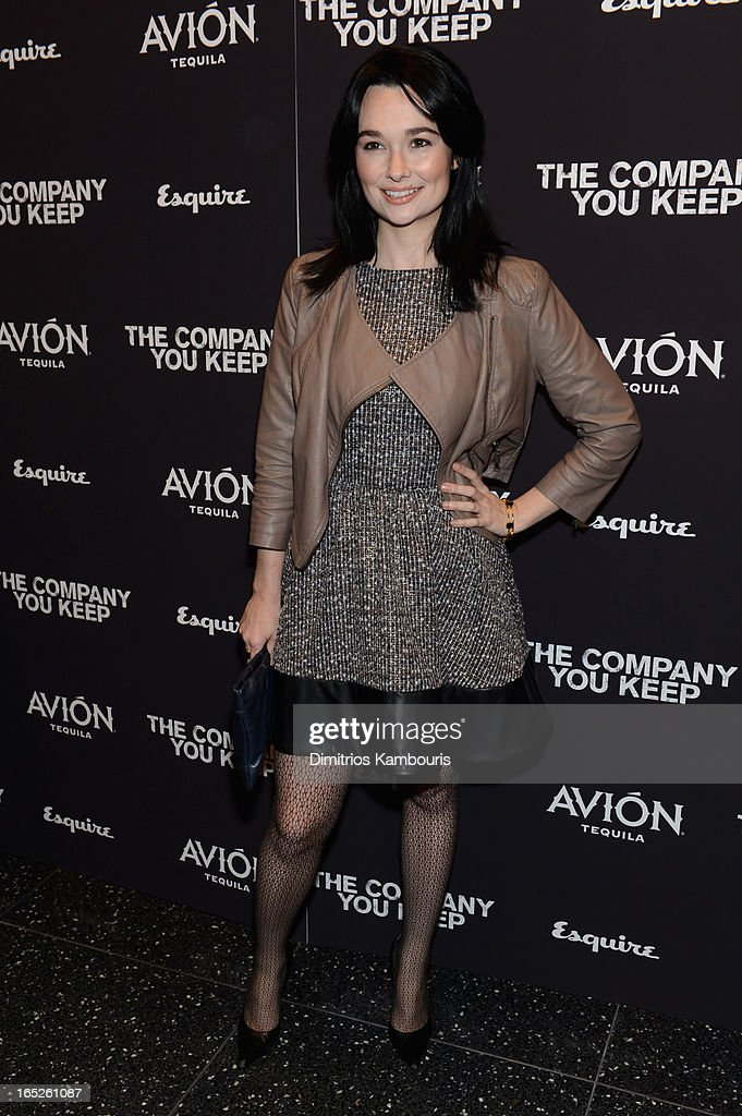 Kristen Ruhlin attends 'The Company You Keep' New York Premiere at MOMA on April 1, 2013 in New York City.