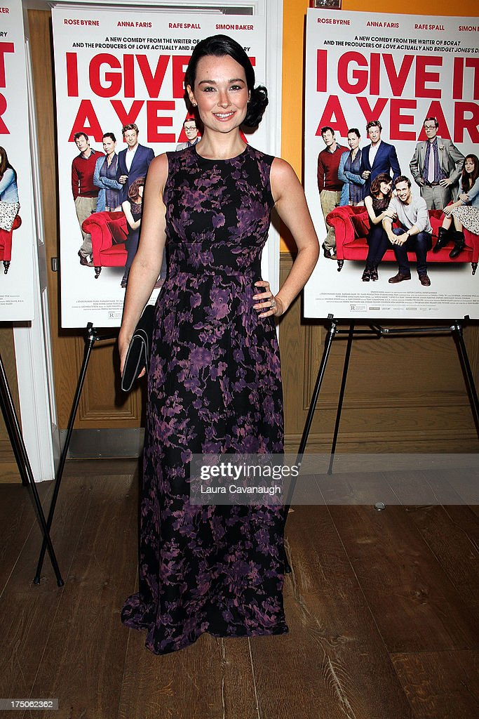 <a gi-track='captionPersonalityLinkClicked' href=/galleries/search?phrase=Kristen+Ruhlin&family=editorial&specificpeople=6711858 ng-click='$event.stopPropagation()'>Kristen Ruhlin</a> attends the 'I Give It A Year' screening at the Crosby Street Theater on July 30, 2013 in New York City.