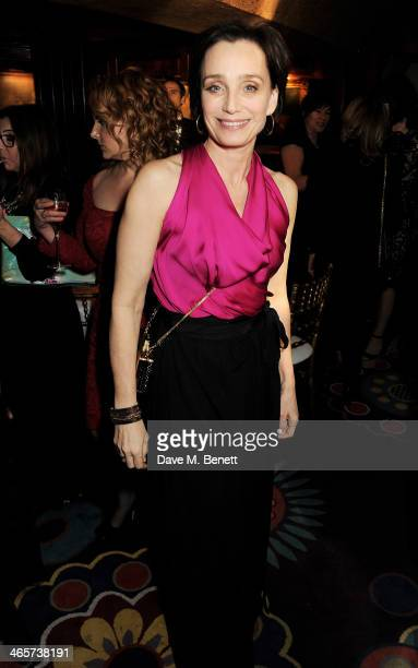 Kristen Scott Thomas attends the Charles Finch and Chanel PreBAFTA cocktail party and dinner at Annabel's on February 8 2013 in London England