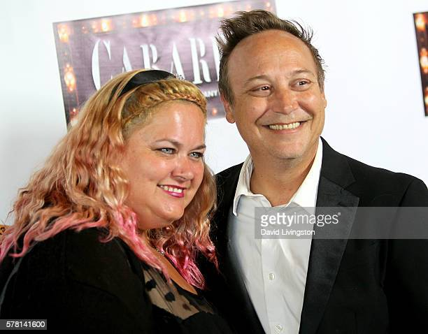 Kristen Shean and actor Keith Coogan arrive at the opening of 'Cabaret' at the Pantages Theatre on July 20 2016 in Hollywood California