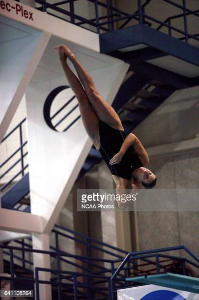 Kristen Simms of the college of New Jersey competes in the three meter springborard competition during the Division 3 Women's Swimming and Diving...