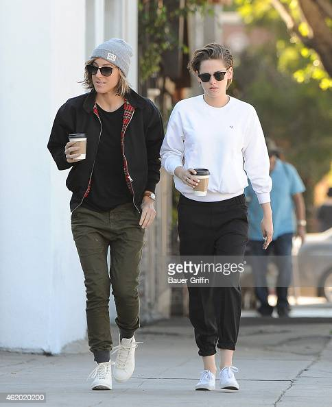 Kristen Stewart and Alicia Cargile are seen in Los Angeles on January 23 2015 in Los Angeles California