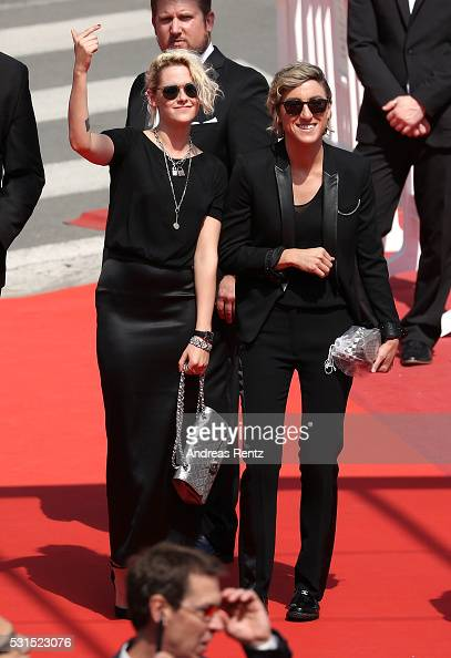 Kristen Stewart and Alicia Cargile attend the 'American Honey' premiere during the 69th annual Cannes Film Festival at the Palais des Festivals on...