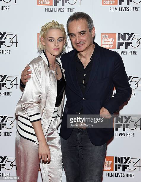 Kristen Stewart and director Olivier Assayas attend the 54th New York Film Festival 'Personal Shopper' Intro and QA at Alice Tully Hall on October 7...