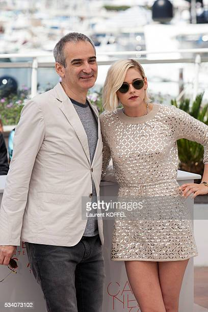 Kristen Stewart and director Olivier Assayas attend the 'Personal Shopper' photocall during the 69th annual Cannes Film Festival at the Palais des...