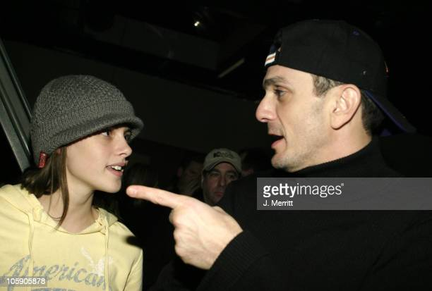 Kristen Stewart and Hank Azaria during 2004 Sundance Film Festival Showtime Party at The Riverhorse Cafe in Park City Utah United States