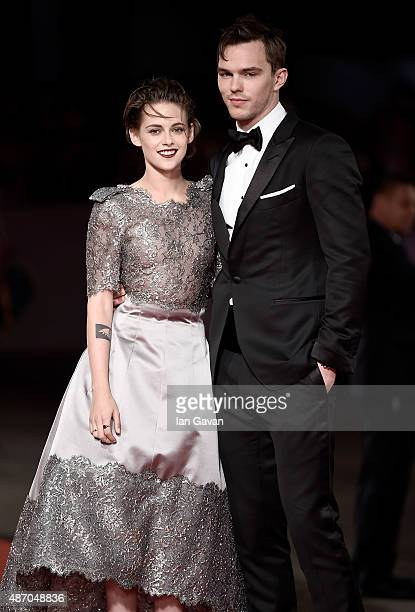 Kristen Stewart and Nicholas Hoult attend the premiere of 'Equals' during the 72nd Venice Film Festival at the Sala Grande on September 5 2015 in...