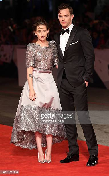 Kristen Stewart and Nicholas Hoult attend the premiere of 'Equals' during the 72nd Venice Film Festival at Sala Grande on September 5 2015 in Venice...