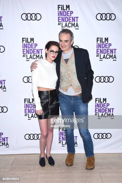 Kristen Stewart and Olivier Assayas attend the Film Independent at LACMA screening and QA of 'Personal Shopper' at Bing Theatre at LACMA on March 6...