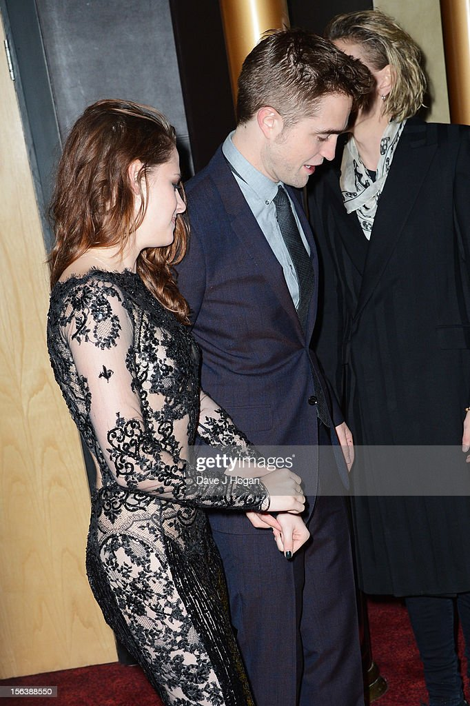 Kristin Stewart and Robert Pattinson attend the UK Premiere of 'The Twilight Saga: Breaking Dawn - Part 2' at Odeon Leicester Square on November 14, 2012 in London, England.