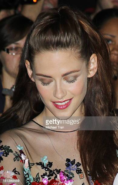 Kristen Stewart arrives at 'On The Road' premiere during the 2012 Toronto International Film Festival held at Ryerson Theatre on September 6 2012 in...