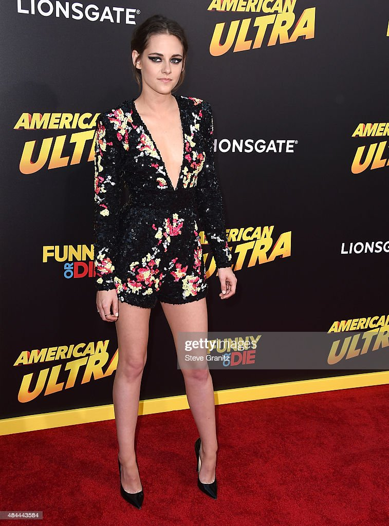 Kristen Stewart arrives at the Premiere Of Lionsgate's 'American Ultra' at Ace Theater Downtown LA on August 18 2015 in Los Angeles California