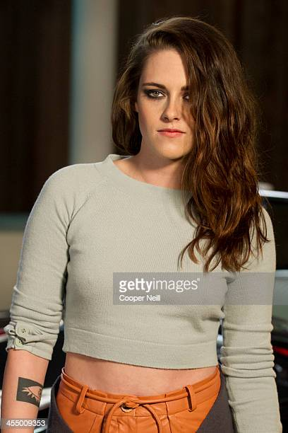 Kristen Stewart arrives for the Chanel 'Metiers d'Art' Show at Fair Park on December 10 2013 in Dallas Texas