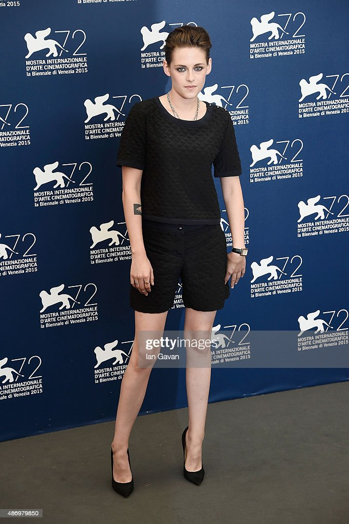 Kristen Stewart attends a photocall for 'Equals' during the 72nd Venice Film Festival at Palazzo del Casino on September 5, 2015 in Venice, Italy.