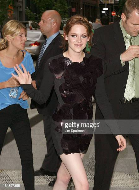 Kristen Stewart attends a screening of 'The Twilight Saga Eclipse' hosted by The Cinema Society and Piaget at the Crosby Street Hotel on June 28 2010...