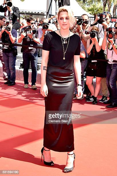 Kristen Stewart attends 'American Honey' Premiere during The 69th Annual Cannes Film Festival at the Palais des Festivals on May 15 2016 in Cannes...