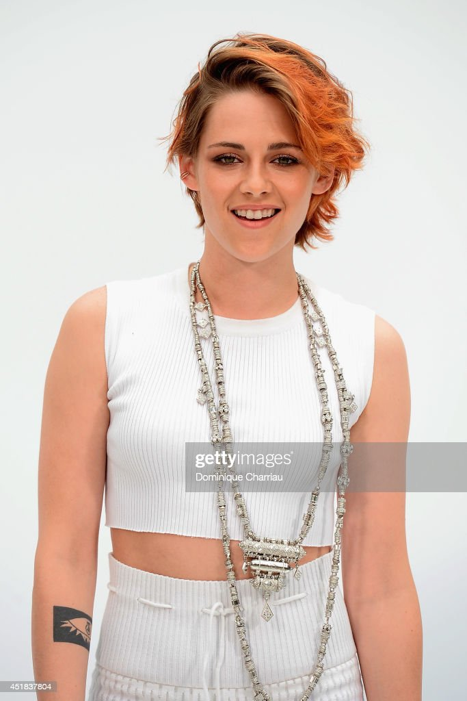 <a gi-track='captionPersonalityLinkClicked' href=/galleries/search?phrase=Kristen+Stewart&family=editorial&specificpeople=2166264 ng-click='$event.stopPropagation()'>Kristen Stewart</a> attends at Chanel show as part of Paris Fashion Week - Haute Couture Fall/Winter 2014-2015 at Grand Palais on July 8, 2014 in Paris, France.