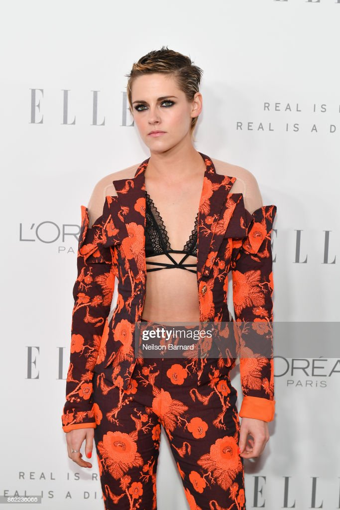 Kristen Stewart attends ELLE's 24th Annual Women in Hollywood Celebration presented by L'Oreal Paris, Real Is Rare, Real Is A Diamond and CALVIN KLEIN at Four Seasons Hotel Los Angeles at Beverly Hills on October 16, 2017 in Los Angeles, California.