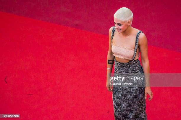 Kristen Stewart attends the '120 Beats Per Minute ' screening during the 70th annual Cannes Film Festival at Palais des Festivals on May 20 2017 in...
