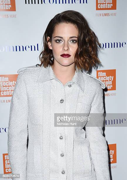 Kristen Stewart attends the 2016 Film Society Of Lincoln Center Luncheon at Scarpetta on January 5 2016 in New York City