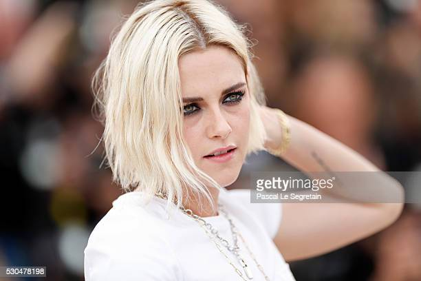 Kristen Stewart attends the 'Cafe Society' Photocall during The 69th Annual Cannes Film Festival on May 11 2016 in Cannes France