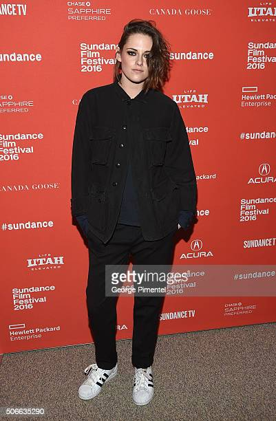 Kristen Stewart attends the 'Certain Women' Premiere during the 2016 Sundance Film Festival at Eccles Center Theatre on January 24 2016 in Park City...