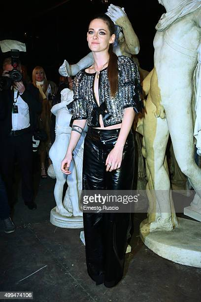 Kristen Stewart attends the Chanel Metiers d'Art 2015/16 Fashion Show at Cinecitta on December 1 2015 in Rome Italy
