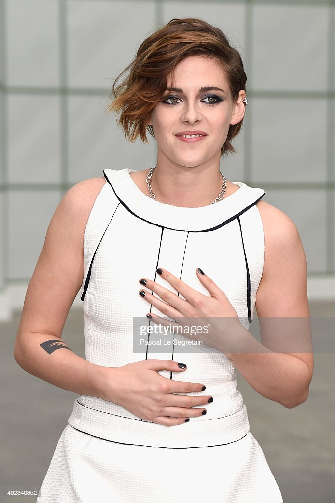 Kristen Stewart attends the Chanel show as part of Paris Fashion Week Haute Couture Spring/Summer 2015 on January 27 2015 in Paris France