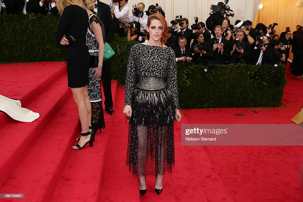 Kristen Stewart attends the 'Charles James: Beyond Fashion' Costume Institute Gala at the Metropolitan Museum of Art on May 5, 2014 in New York City.