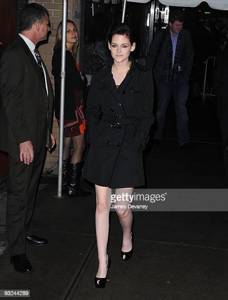Kristen Stewart attends The Cinema Society DG screening of 'The Twilight Saga New Moon' at Landmark's Sunshine Cinema on November 19 2009 in New York...