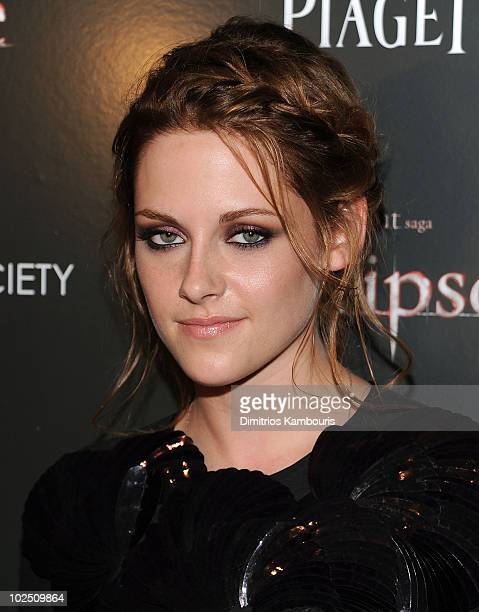 Kristen Stewart attends The Cinema Society Piaget host a screening of 'The Twilight Saga Eclipse' at the Crosby Street Hotel on June 28 2010 in New...