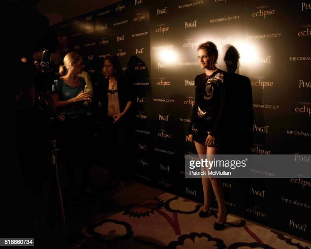 Kristen Stewart attends THE CINEMA SOCIETY PIAGET host a screening of 'THE TWILIGHT SAGA ECLIPSE' at Crosby Street Hotel on June 28 2010 in New York...