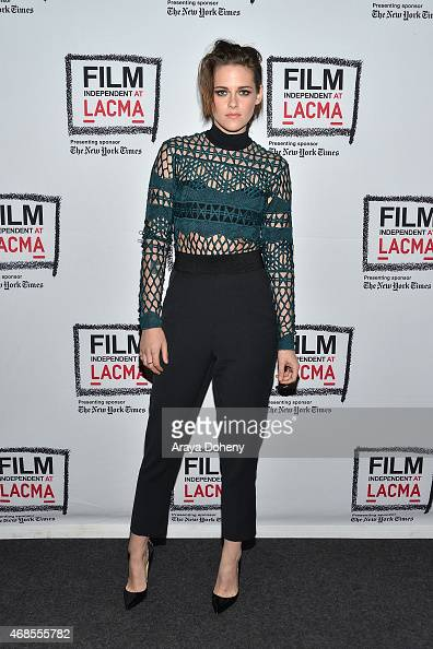 Kristen Stewart attends the Film Independent at LACMA screening and QA of 'Clouds Of Sils Maria' at Bing Theatre At LACMA on April 3 2015 in Los...