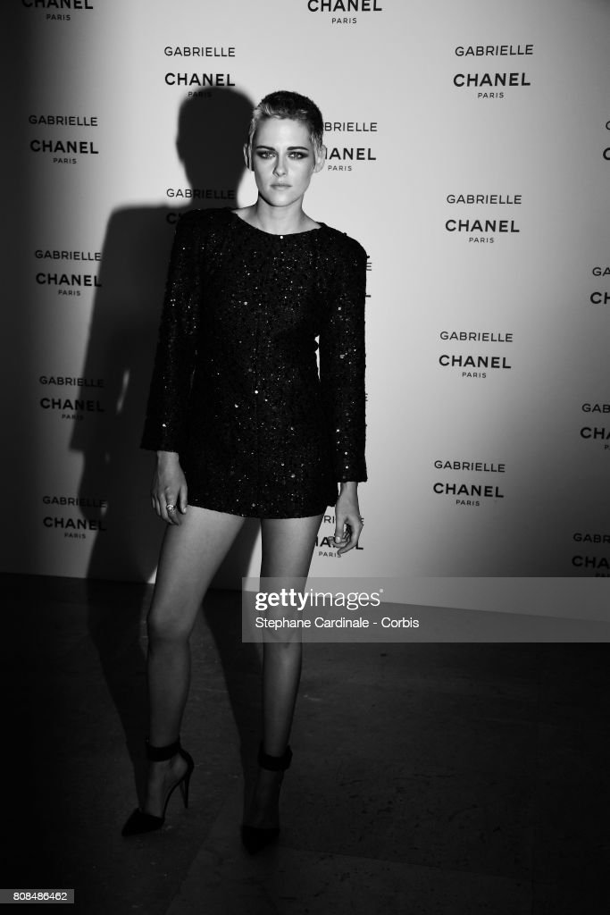Kristen Stewart attends the launch party for Chanel's new perfume 'Gabrielle' as part of Paris Fashion Week on July 4, 2017 in Paris, France.