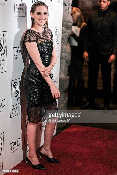 Kristen Stewart attends the New York Film Critics Circle Awards at TAO Downtown on January 4 2016 in New York City