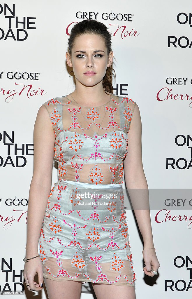<a gi-track='captionPersonalityLinkClicked' href=/galleries/search?phrase=Kristen+Stewart&family=editorial&specificpeople=2166264 ng-click='$event.stopPropagation()'>Kristen Stewart</a> attends the 'On The Road' premiere at SVA Theater on December 13, 2012 in New York City.